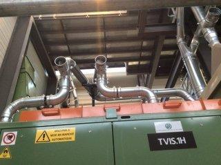 montaggio impianto aspirazione polveri
