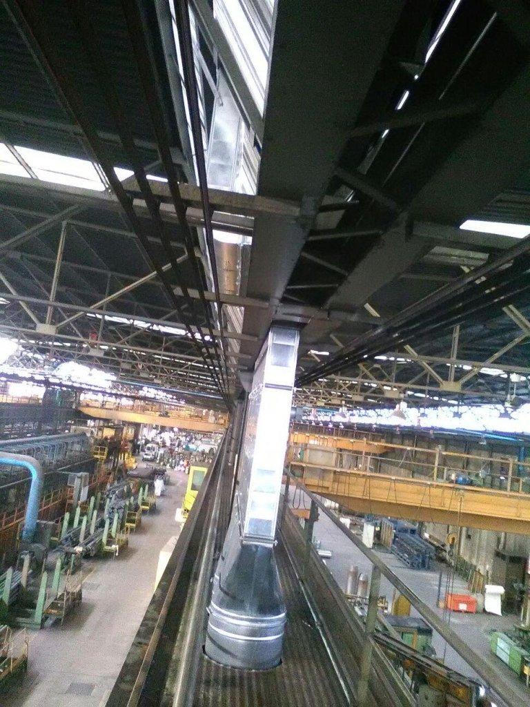 Montaggio impianto acciaieria