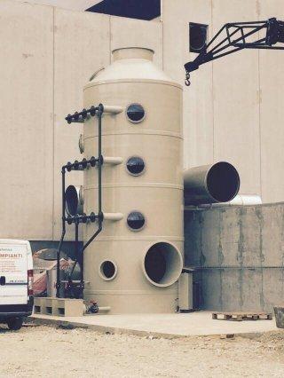 montaggio impianto fumi bio filtro
