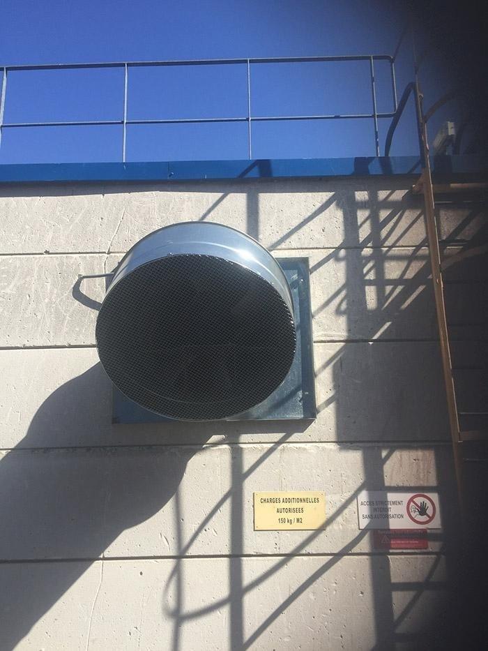 Montaggio ventilatori circolazione aria