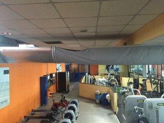 impianto aspirazione aria per palestra