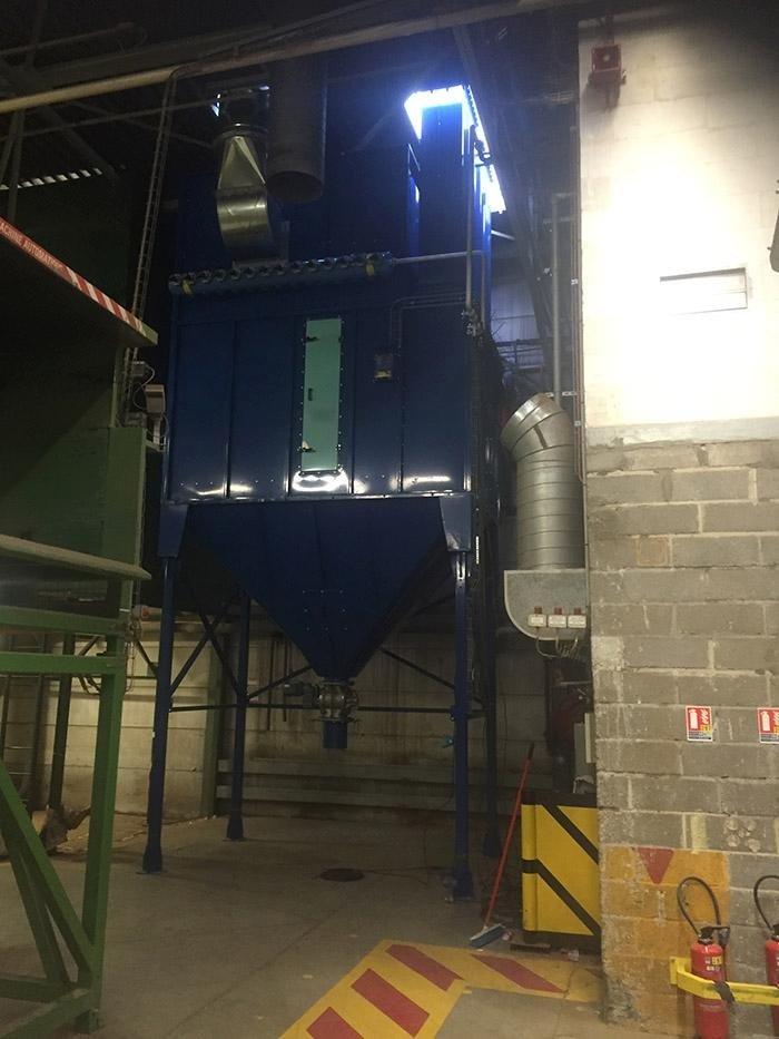 Montaggio impianto filtro più tubazione polveri