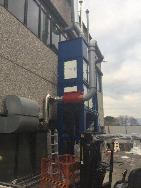 installazione impianto industriale filtrazione polveri