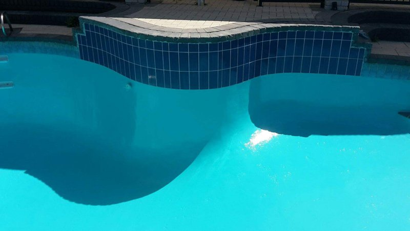 pool with new paint and clean tiles