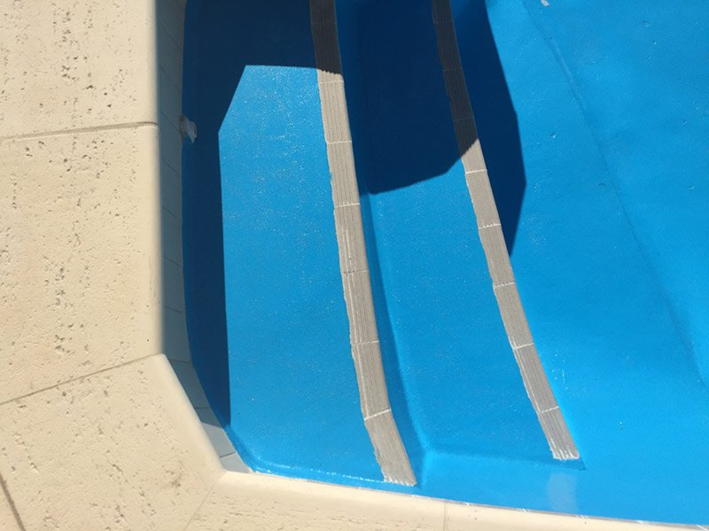 pool steps with new paint