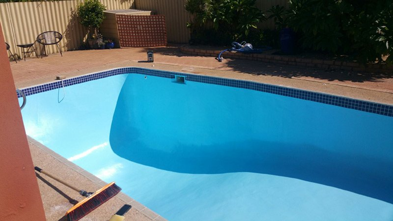 rectangle pool with new paint