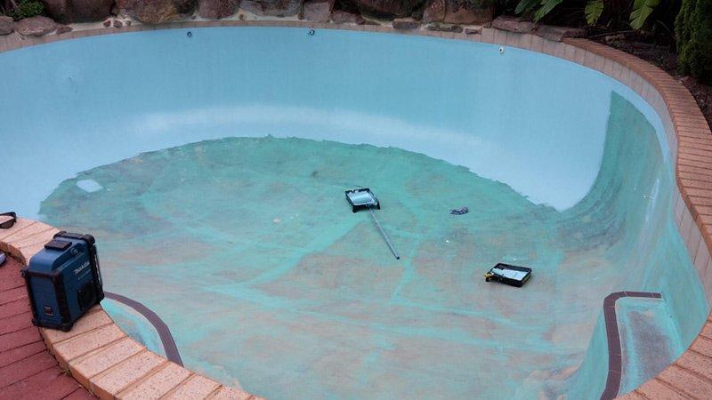pool being painted