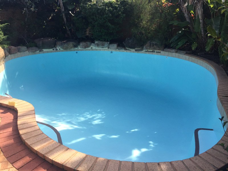 small pool with new paint