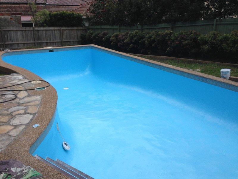 domestic pool in Pymble painted with luxapool