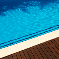 side of swimming pool