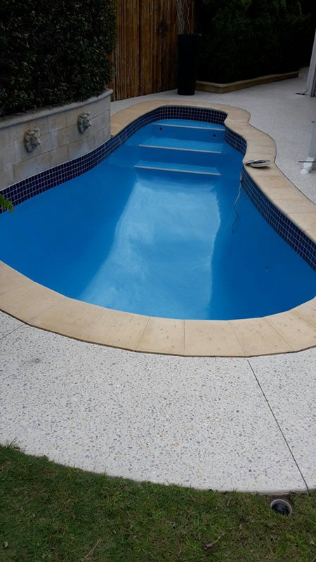 small pool with mid blue color in perth