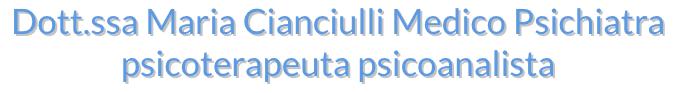MARIA DOTT. CIANCIULLI PSICHIATRA-logo