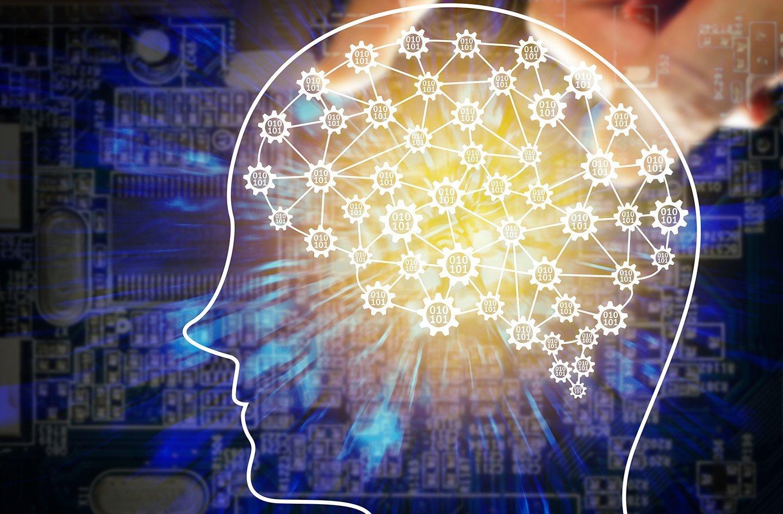 figura astratta della mente umana