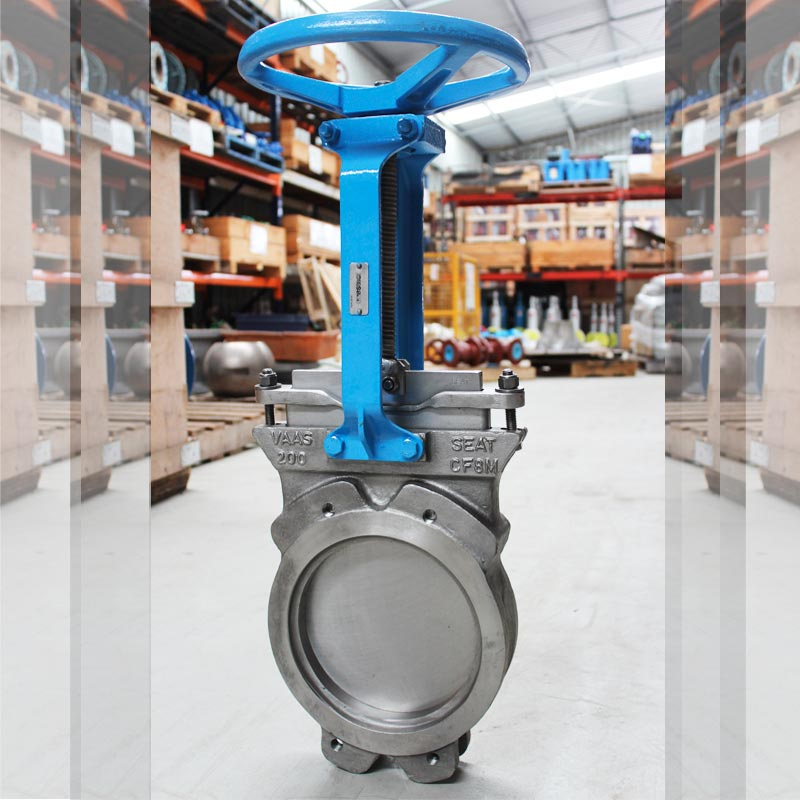blue and silver pipe valve