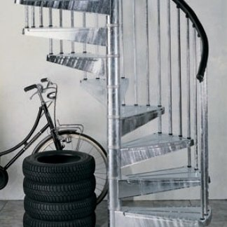 Scale a chiocciola in alluminio