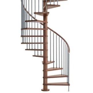 Scale a chiocciola in alluminio e gradini in legno