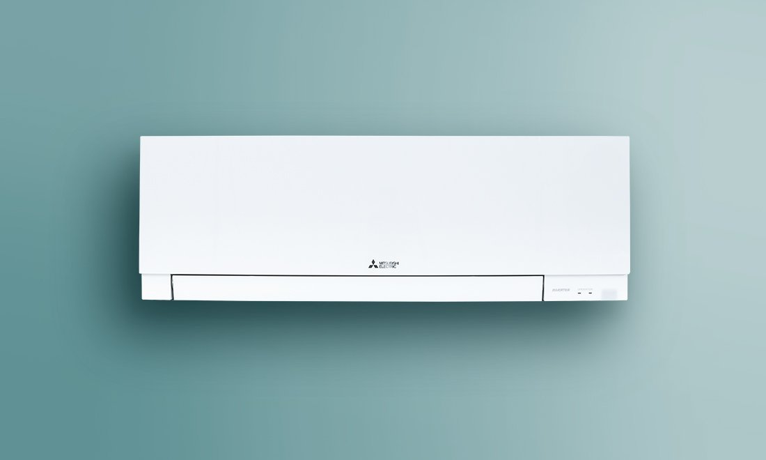white wall-mounted air handler