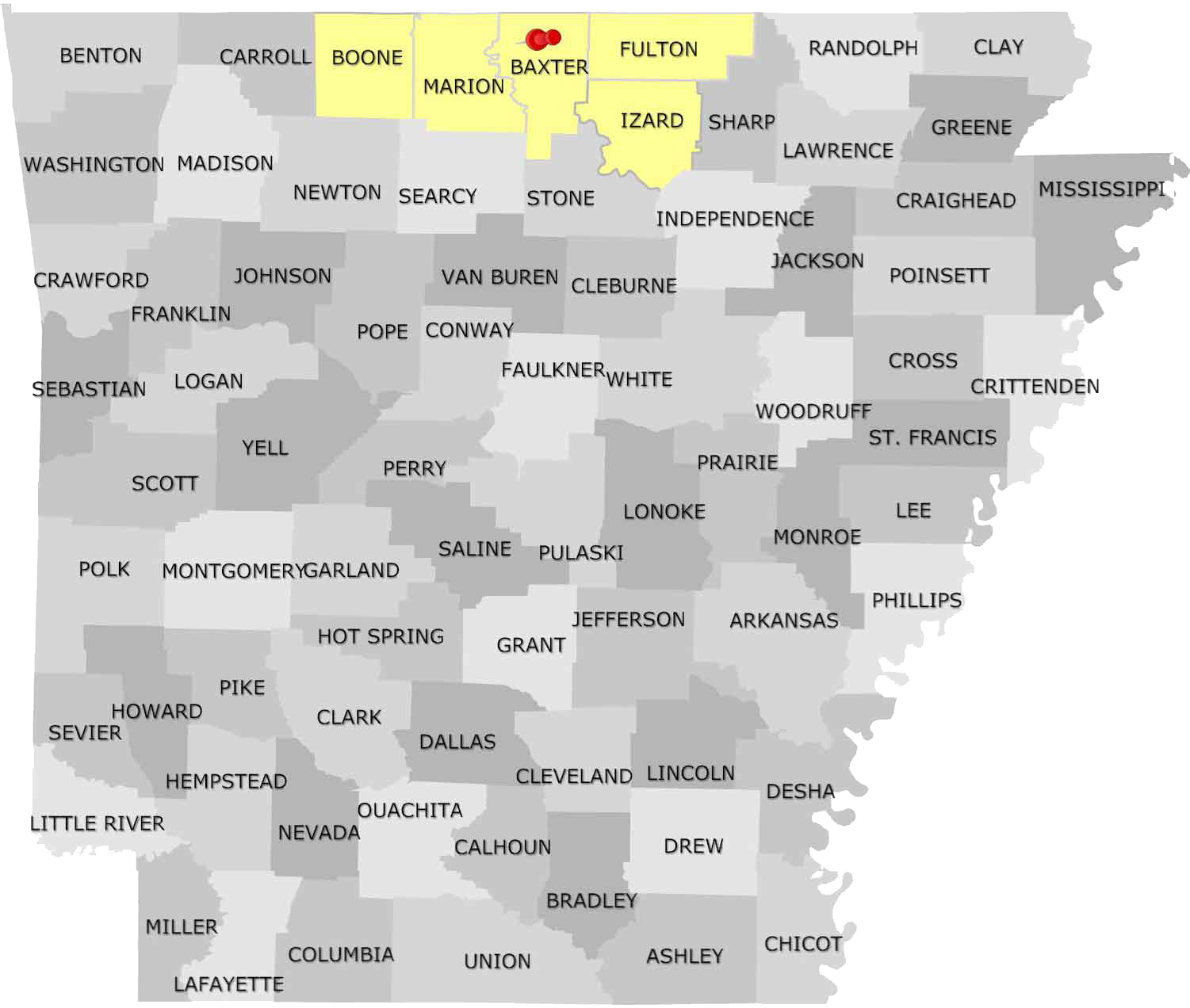 Arkansas Service Territories