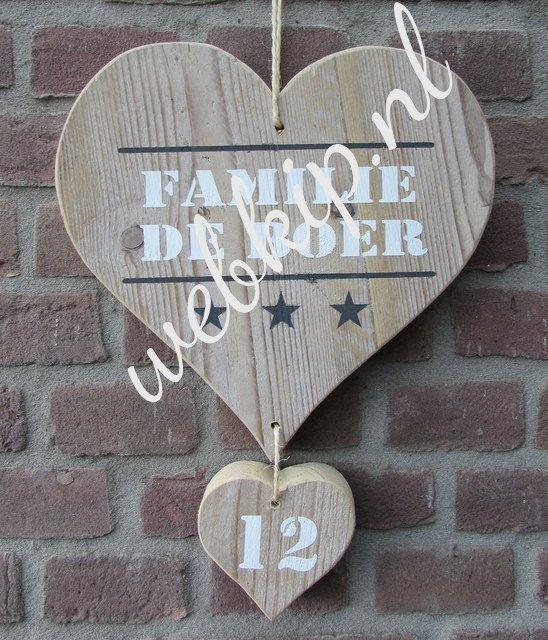 Top Steigerhout naambord #BF13
