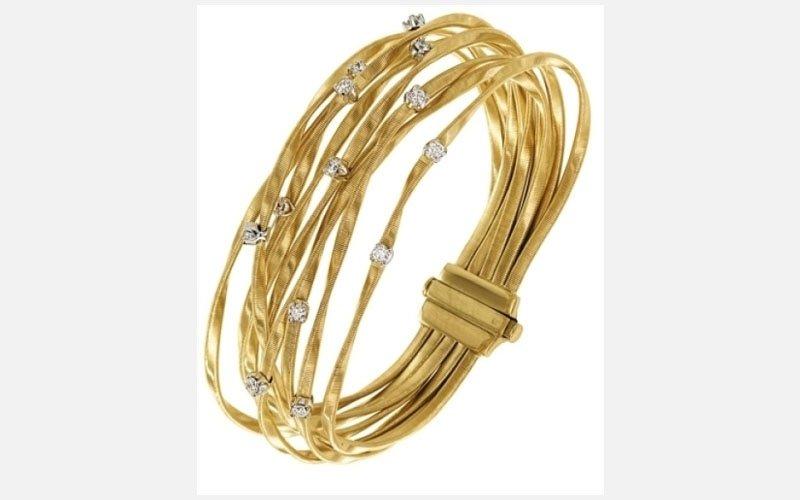 bracciale oro linea marrakech