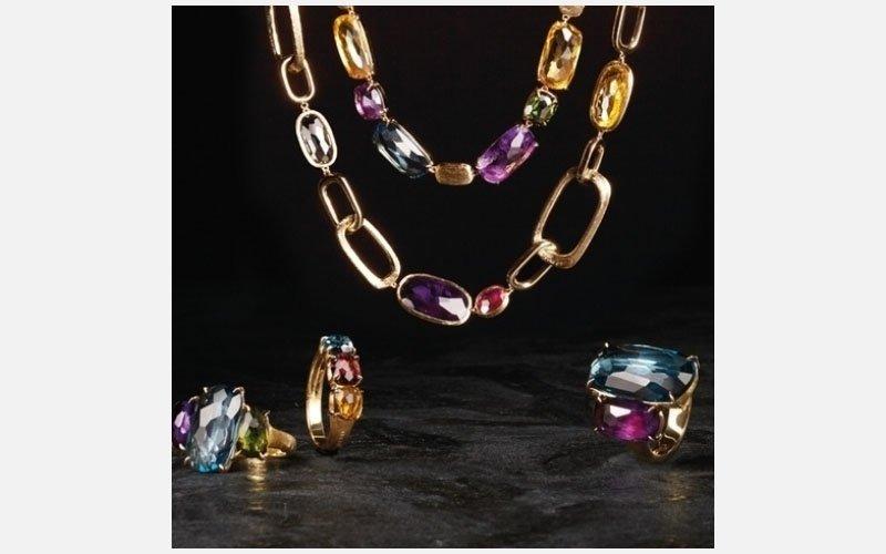set collana, anelli oro giallo