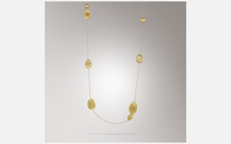 collana di oro giallo Lunaria