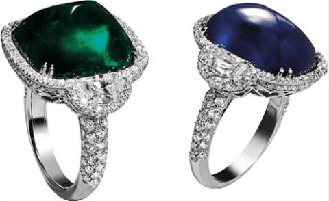 anelli in oro bianco con zaffiro