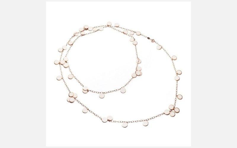 collana oro rosa e smalto bianco