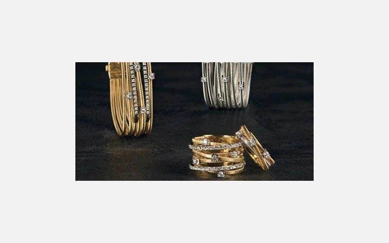 set bracciale e anello oro