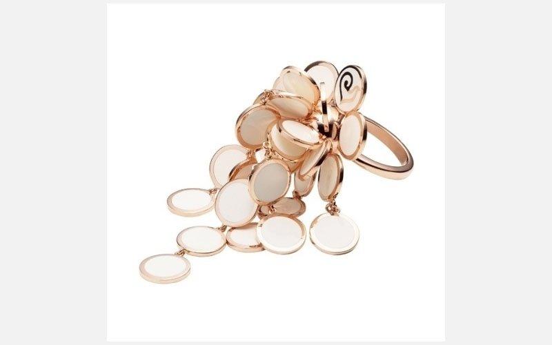 anello a cascata collezione paillettes