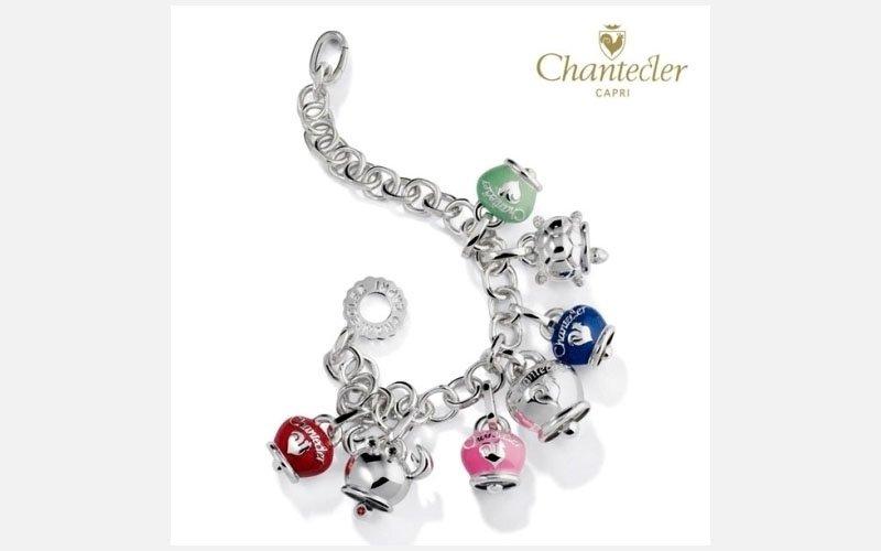 bracciale argento e campanelle