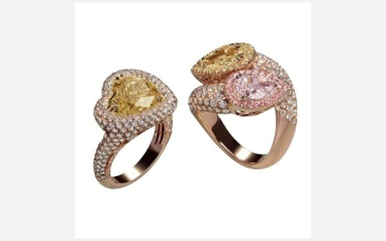 anelli in oro rosso e rosa