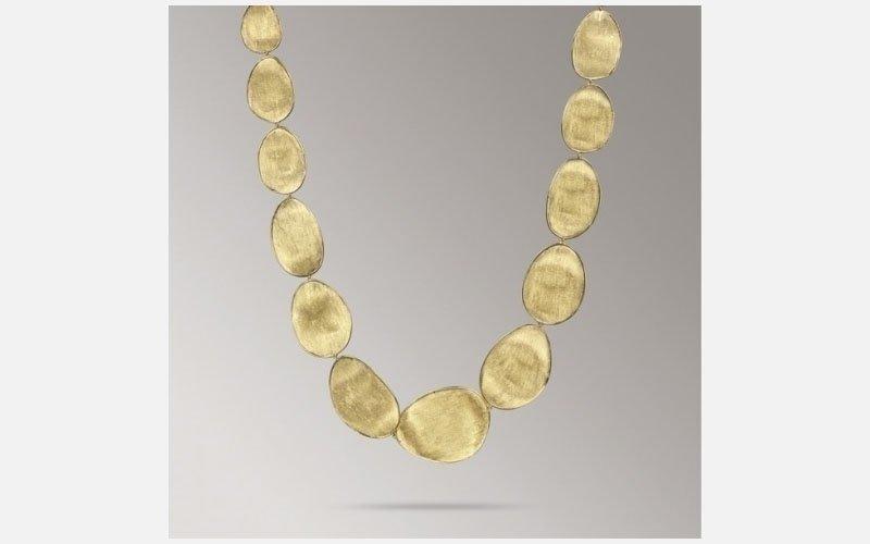 collana in oro giallo Lunaria