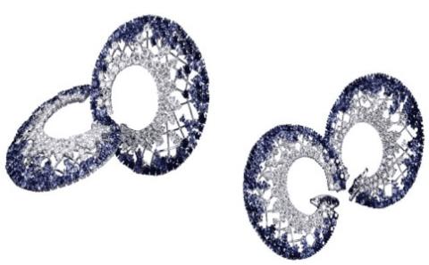 coppia di orecchini a spirale