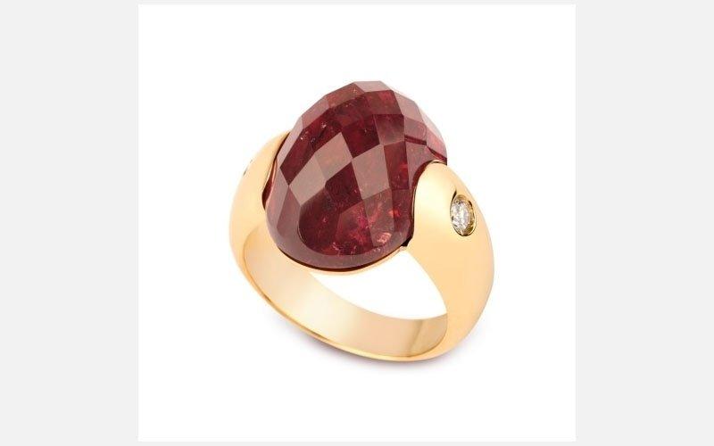 anello oro rosa linea embrace
