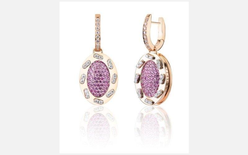 orecchini oro rosa diamanti