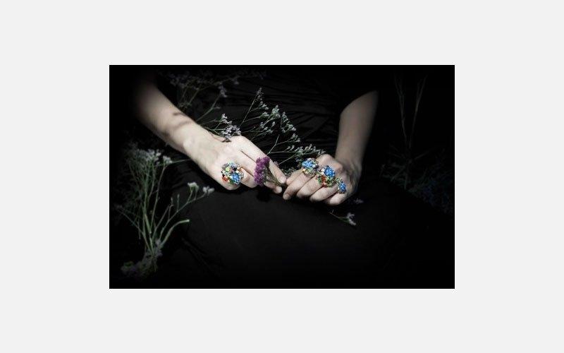 set anelli oro e pietre preziose