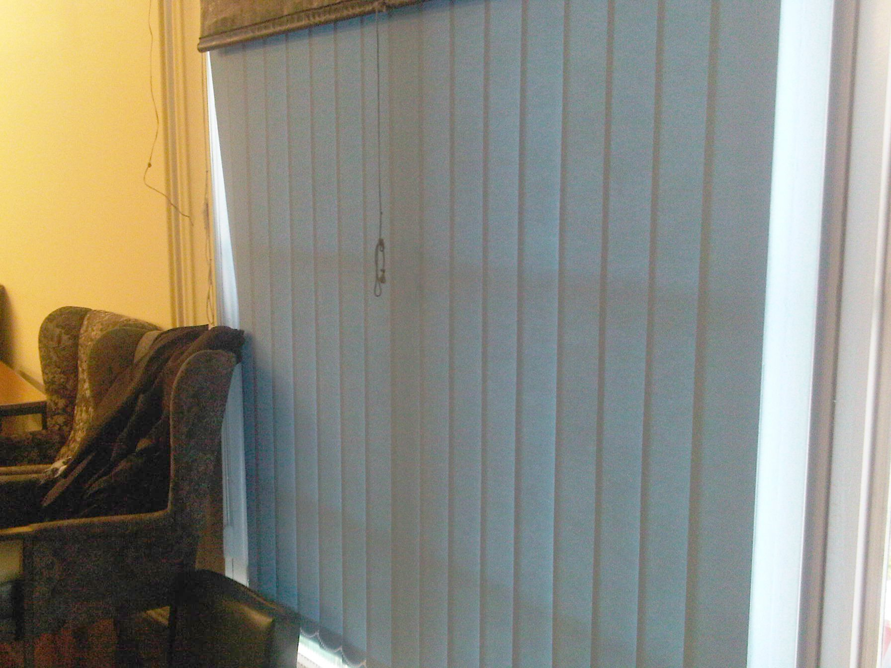 closed vertical blinds