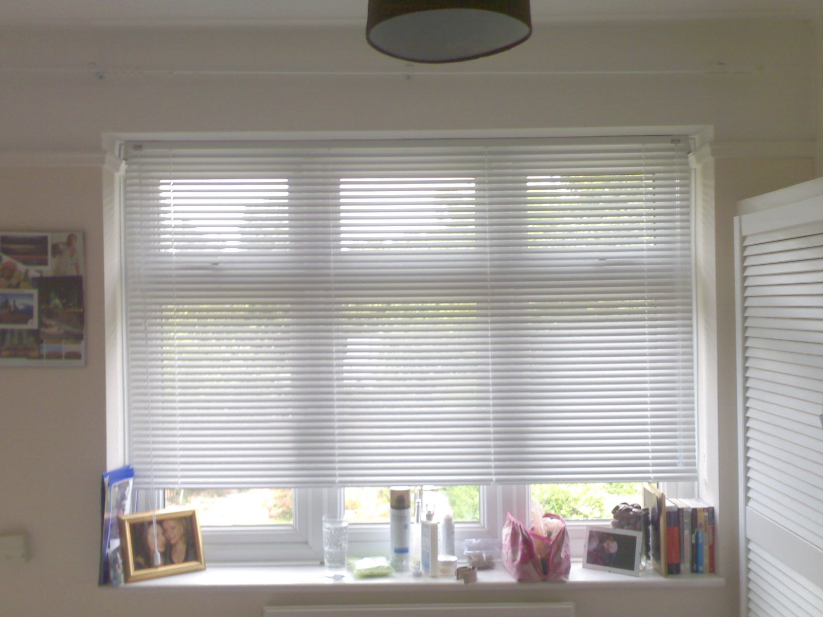 blinds partially open