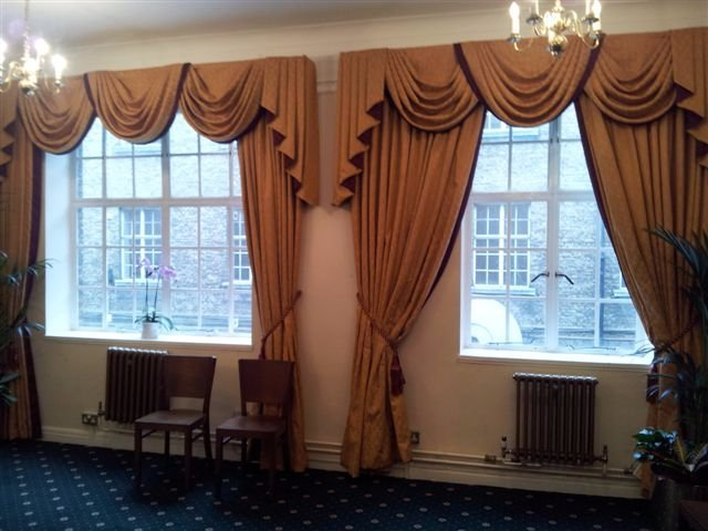 two sets of curtains