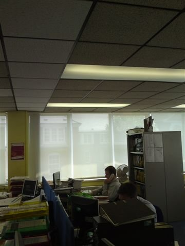 fully closed office blinds