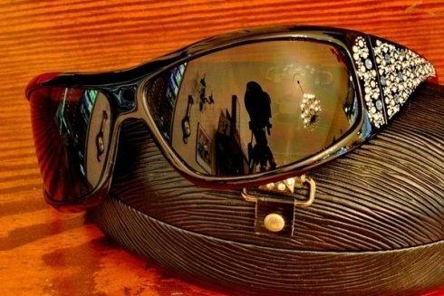 occhiali con brillantini