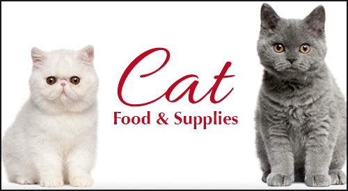 Cat food and supplies