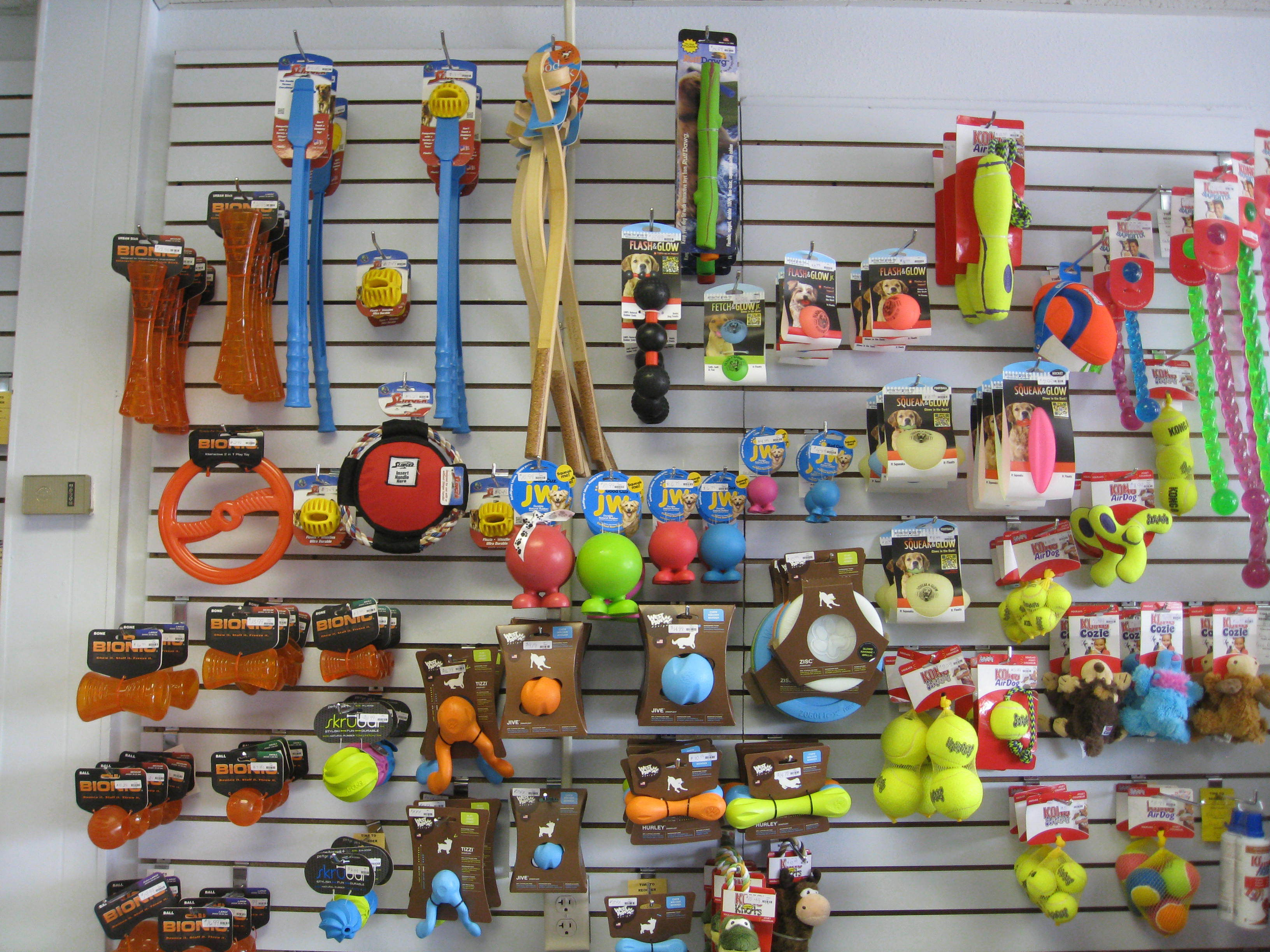 Assortment of Dog and Cat Toys at Wags & Whiskers in La Crosse, WI