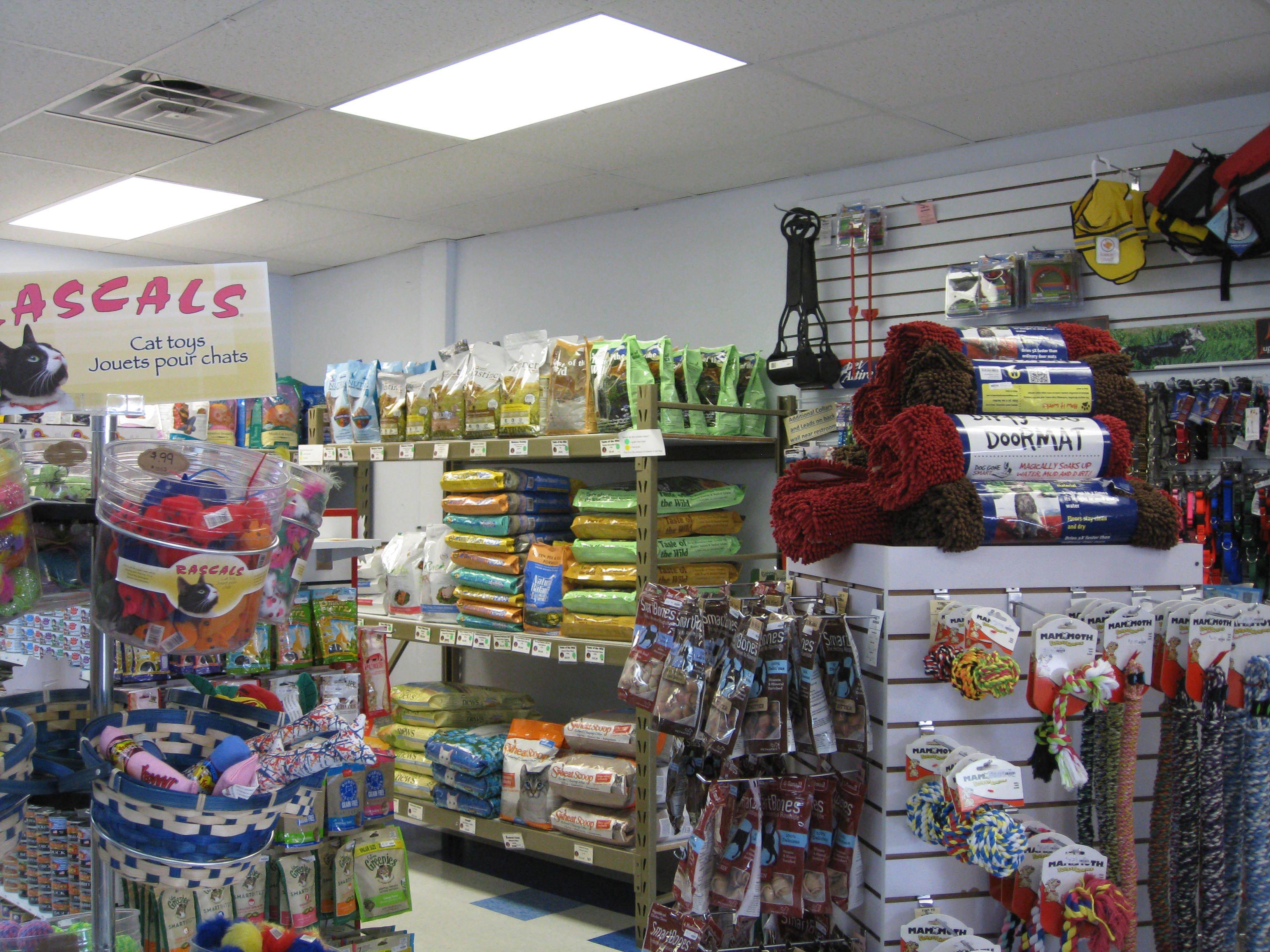 Inside Wags & Whiskers in La Crosse, WI