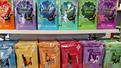 Tiki Cat Treats and Cats in the Kitchen Treats at Wags & Whiskers in La Crosse, WI