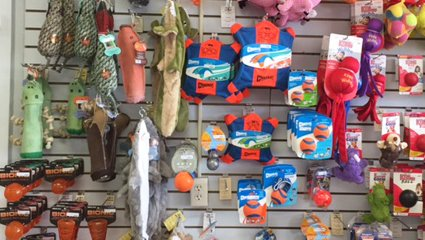 Some of the pet toys available at Wags & Whiskers