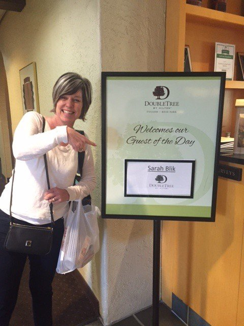 Sarah Blik guest of the day at DoubleTree