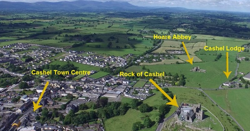 Cashel Lodge proximity to the Rock of Cashel