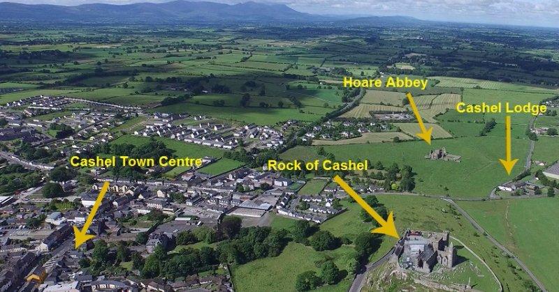 Cashel Lodge proximity to the Rock of Cashel